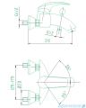 KFA AMETYST bateria wannowa CHROM 404-010-00