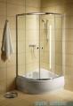 Radaway Classic A Kabina prysznicowa półokrągła z drzwiami przesuwnymi 80x80x170 szkło satinato