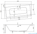 Besco Infinity 160x100cm wanna asymetryczna lewa + obudowa + syfon #WAI-160-NL/OAI-160-NS/19975
