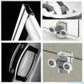 Radaway Premium Plus A Kabina półokrągła 90x90 wysokość 170cm szkło fabric 30401-01-06N