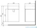 Koło Twins Szafka podumywalkowa wisząca z drzwiami 49,5x57x45,9 cm biały połysk 89483
