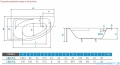 Piramida Cornea Comfort 150x100cm Wanna asymetryczna Lewa