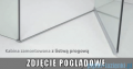 Radaway Euphoria KDJ+S Kabina przyścienna 90x100x90 prawa szkło przejrzyste z progiem