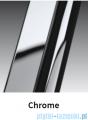 Novellini Drzwi do wnęki z elementem stałym GIADA G+F 144 cm prawe szkło przejrzyste profil chrom GIADNGF144D-1K