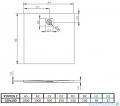 Radaway Kyntos C brodzik kwadratowy 100x100cm antracyt rysunek techniczny