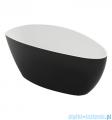Omnires Barcelona wanna 156x71cm wolnostojąca biało-czarna połysk