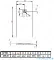 Radaway Kyntos F brodzik 100x80cm antracyt rysunek techniczny