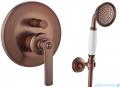 Omnires Armance kompletny łazienkowy system podtynkowy miedź antyczna SYSAM10ORB