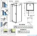 Radaway Essenza New Kdj+S kabina 80x100x80cm lewa szkło przejrzyste 385022-01-01L/384051-01-01/384051-01-01