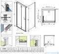 Radaway Eos KDJ-B kabina prysznicowa 90x90 lewa szkło przejrzyste 37403-01-01NL