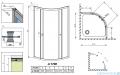 Radaway Premium A Kabina półokrągła 90x90x170 szkło przejrzyste 30401-01-01