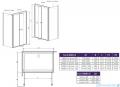 Radaway Eos II S1 Ścianka boczna 80x197 prawa szkło przejrzyste 3799410-01R