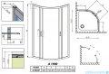 Radaway Premium Plus A Kabina półokrągła 80x80 fabric 30413-01-06N