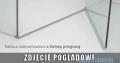 Radaway Euphoria PDD Kabina prysznicowa 80x80 szkło przejrzyste z progiem