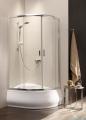 Radaway Premium Plus E Kabina półokrągła z drzwiami przesuwnymi 100x80cm szkło przejrzyste