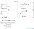 Omnires Parma zestaw podtynkowy natryskowy chrom/biały SYSPM17ACRB