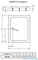 Radaway Brodzik prostokątny Laros D 100x90x17 cm z obudową SLD91017-01