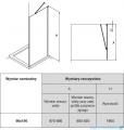 Roca Capital ścianka kabina walk-in 90x195cm przejrzyste AM4409012M