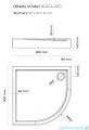 Oltens Vindel brodzik półokrągły 90x90 cm 16004000