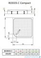 Radaway Brodzik kwadratowy Rodos C 90x90 z obudową zintegrowaną 4K99155-04