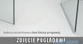Radaway Euphoria KDJ+S Kabina przyścienna 90x90x90 lewa szkło przejrzyste 383612-01L/383221-01L/383050-01/383030-01