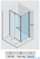 Riho Ocean kabina prostokątna prawa 120x80cm GU0202100/GU0300101