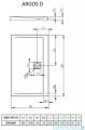 Prostokątny brodzik radaway Argos D 100x90x5,5 cm 4AD910-01