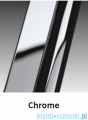Novellini Drzwi do wnęki z elementem stałym GIADA G+F 132 cm prawe szkło przejrzyste profil chrom GIADNGF132D-1K