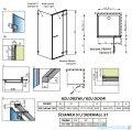Radaway Euphoria KDJ Kabina prysznicowa 120x110 prawa szkło przejrzyste 383812-01R/383240-01R/383053-01