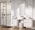 Elita Look szafka z umywalką 60x28x45cm biały mat 167590/145830