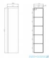 Cersanit Moduo szafka wisząca 160x40 cm szara S929-019