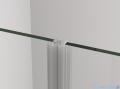 SanSwiss Cadura Black Line drzwi wahadłowe 80cm dwuczęściowe profile czarny mat CA2C0800607
