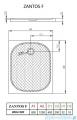 Radaway Zantos F brodzik prostokątny 120x80cm M3ZNF1280-06