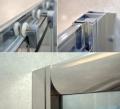 Omnires Bronx drzwi przysznicowe 80x185cm przejrzyste S20A380CRTR