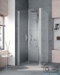 Kermi Pega Ściana boczna, szkło przezroczyste, profile srebrne 120x200cm PETWD12020VPK