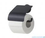 Tiger Urban Uchwyt na papier toaletowy z klapką czarny 13166.3.07.46