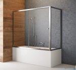 Radaway Vesta Dwj+s parawan nawannowy 150x70cm szkło przejrzyste 209115-01-01/204070-01