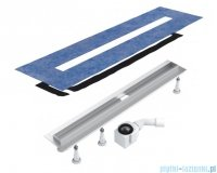 Schedpol Slim Lux odpływ liniowy z maskownicą Steel Slim 100x3,5x9,5cm OLSL100/SLX