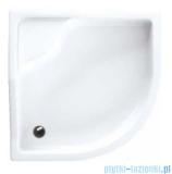 Schedpol Bona brodzik akrylowy 80x80cm R55 półokrągły biały 3.238