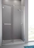 Radaway Carena DWJ Drzwi prysznicowe 90 lewe szkło brązowe + brodzik Delos C 34302-01-08NL