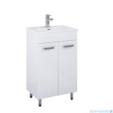 Elita Amigo Set szafka z umywalką komplet 51x84x35cm biały połysk 167015