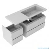 Oristo Brylant szafka z umywalką prawa 125x50x48cm biały połysk OR36-SD2S-85-1/OR36-SD2S-40-1/UME-BR-125-92-P