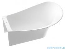 Marmorin Misa wanna przyścienna bez przelewu prawa 155x92 cm biała 634155920010