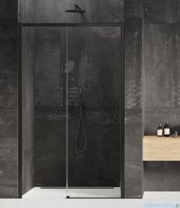 New Trendy Prime Black drzwi wnękowe pojedyncze 130x200 cm lewe przejrzyste D-0322A