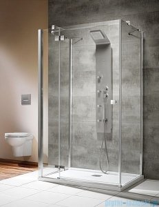 Radaway Kabina prysznicowa Almatea KDJ+S 80x90x80 lewa szkło przejrzyste + brodzik Doros D + syfon 31556-01-01L1/31556-01-01L2