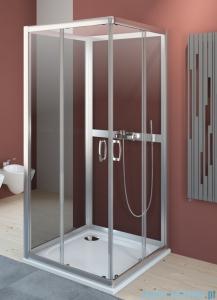 Radaway Premium Plus C+2S kabina czterościenna kwadratowa 80x80 szkło przejrzyste/grafit 30463-01-01N/33443-01-05N