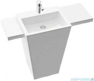 Marmorin Tebe 55 SL umywalka stojąca z lewą krótką i prawą długą półką z otworem biały połysk PS0821205500100003