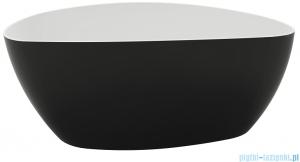 Marmite Rita XL Bicolor wanna wolnostojąca 170x77 cm biało-czarna + syfon 622500171000