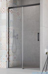 Radaway Idea Black Dwj drzwi wnękowe 100cm lewe szkło przejrzyste 387014-54-01L