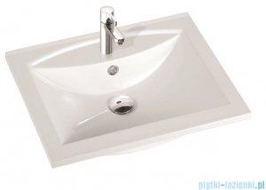 Marmorin umywalka nablatowa Larissa 60 cm z otworem biała 300060022011